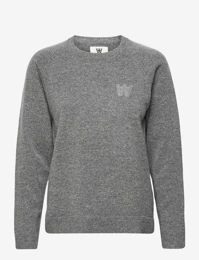 Asta lambswool jumper - trøjer - grey melange