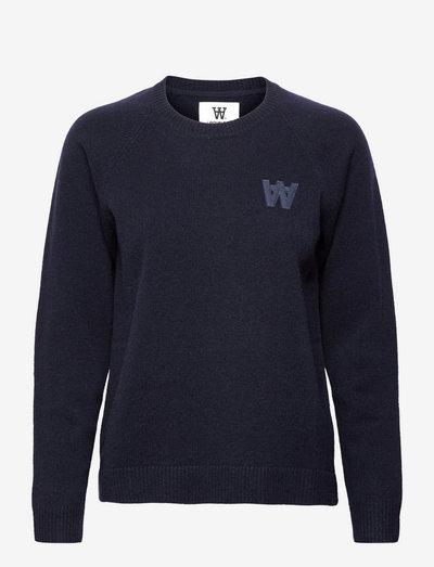 Asta lambswool jumper - trøjer - navy