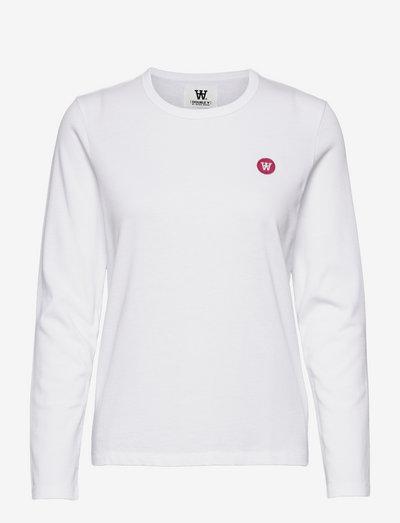 Moa long sleeve - langærmede toppe - white/pink