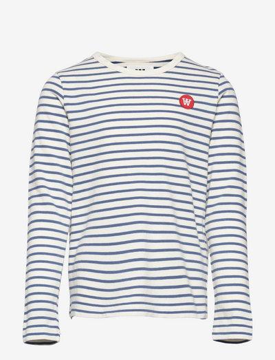 Kim kids long sleeve - langärmelig - off-white/blue stripes