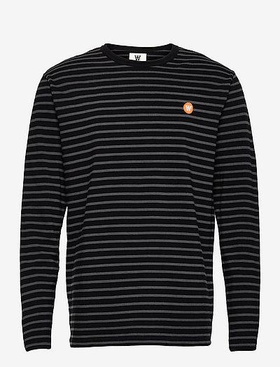 Mel long sleeve - t-shirts à manches longues - black/grey stripes