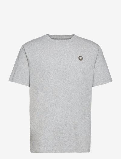 Ace T-shirt - basic t-shirts - grey melange/green
