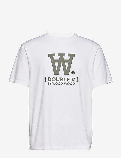 Ace T-shirt - kortärmade t-shirts - white/green