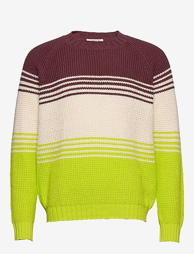 Gunther sweater - knitted round necks - multi stripes