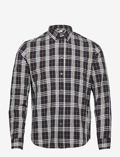 Andrew flannel shirt - denimowe koszulki - olive check