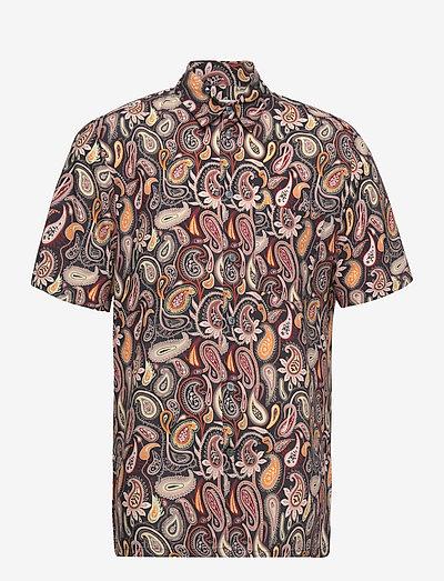Thor paisley shirt SS - geruite overhemden - navy aop