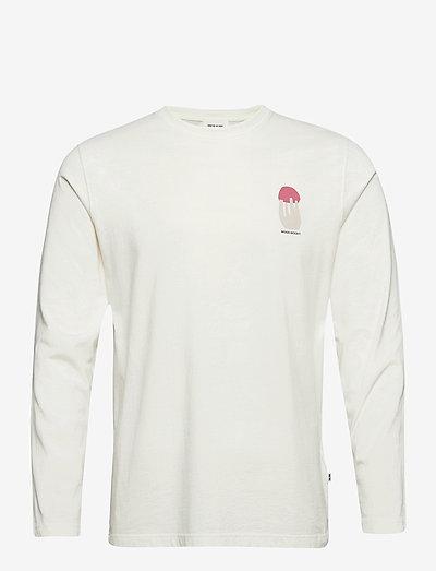 Peter shroom long sleeve - basis-t-skjorter - off-white