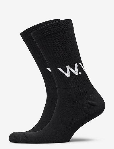 Gail 2-pack socks - chaussettes régulières - black