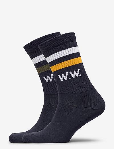Gail 2-pack socks - chaussettes régulières - navy stripes