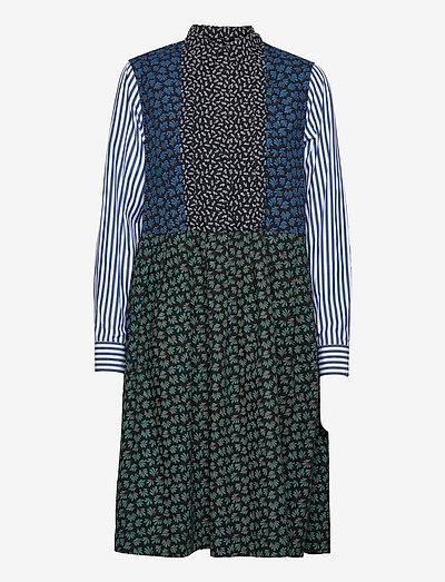Grace block print dress - hverdagskjoler - black aop