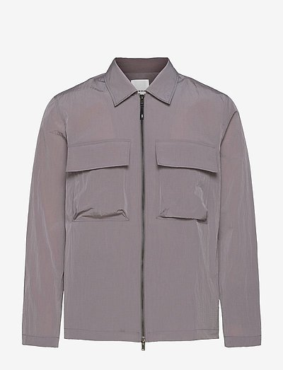 Egon nylon zip shirt - kläder - lilac