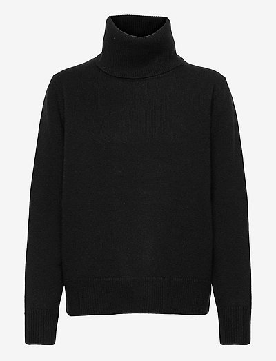 Paula fine wool turtleneck - rullekraver - black