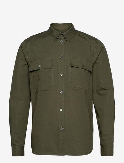 Avenir twill shirt - koszule lniane - olive