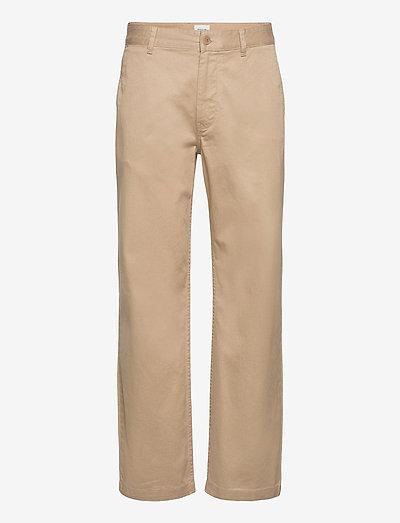Stefan classic trousers - pantalons chino - khaki