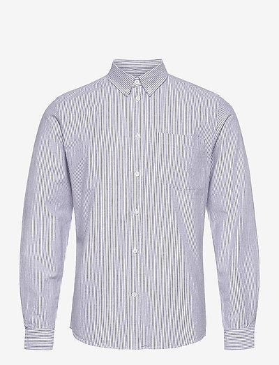 Adam oxford shirt - linneskjortor - blue stripes