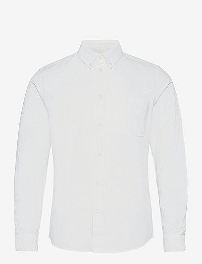 Adam oxford shirt - linneskjortor - bright white