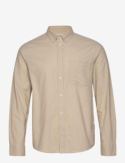 Adam classic flannel shirt - chemises oxford use default - light sand