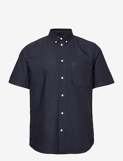 Michael oxford shirt SS - chemises à manches courtes - navy
