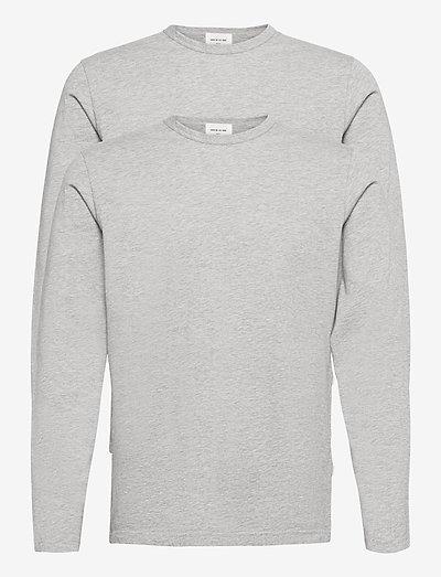 Emil 2-pack long sleeve - t-shirts basiques - grey melange
