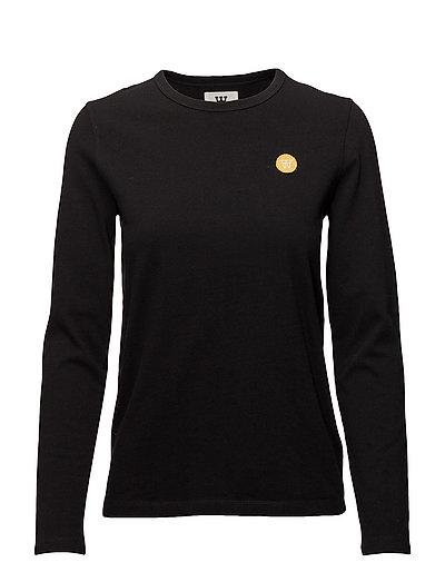 Moa Long Sleeve Langärmliges T-Shirt Schwarz WOOD WOOD