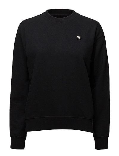 Jess Sweatshirt Sweat-shirt Pullover Schwarz WOOD WOOD