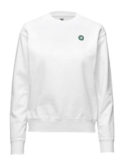 Jess Sweatshirt Sweat-shirt Pullover Weiß WOOD WOOD