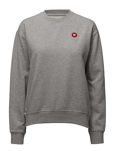Jess Sweatshirt Sweat-shirt Pullover Grau WOOD WOOD