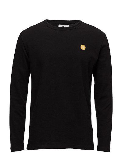 Mel Long Sleeve T-Langärmliges Hemd Schwarz WOOD WOOD
