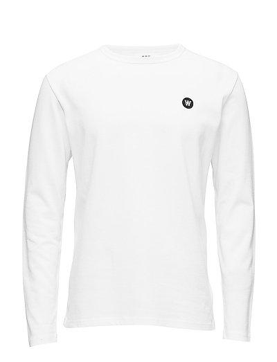 Mel Long Sleeve T-Langärmliges Hemd Weiß WOOD WOOD