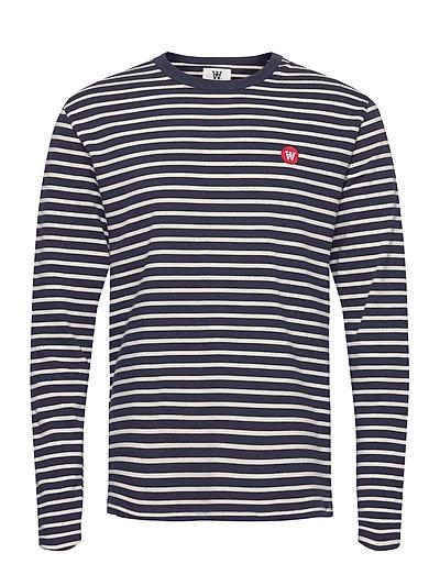 Mel Long Sleeve T-Langärmliges Hemd Blau WOOD WOOD