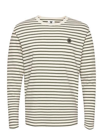 Mel Long Sleeve T-Langärmliges Hemd Creme WOOD WOOD