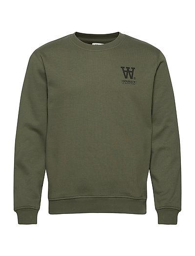 Tye Sweatshirt Sweat-shirt Pullover Grün WOOD WOOD