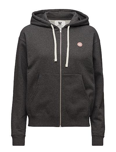Lena zip hoodie - DARK GREY MELANGE