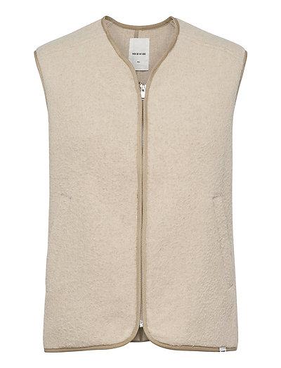 Victor Vest Vests Knitted Vests Beige WOOD WOOD