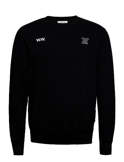 Hugh Sweatshirt Sweat-shirt Pullover Schwarz WOOD WOOD
