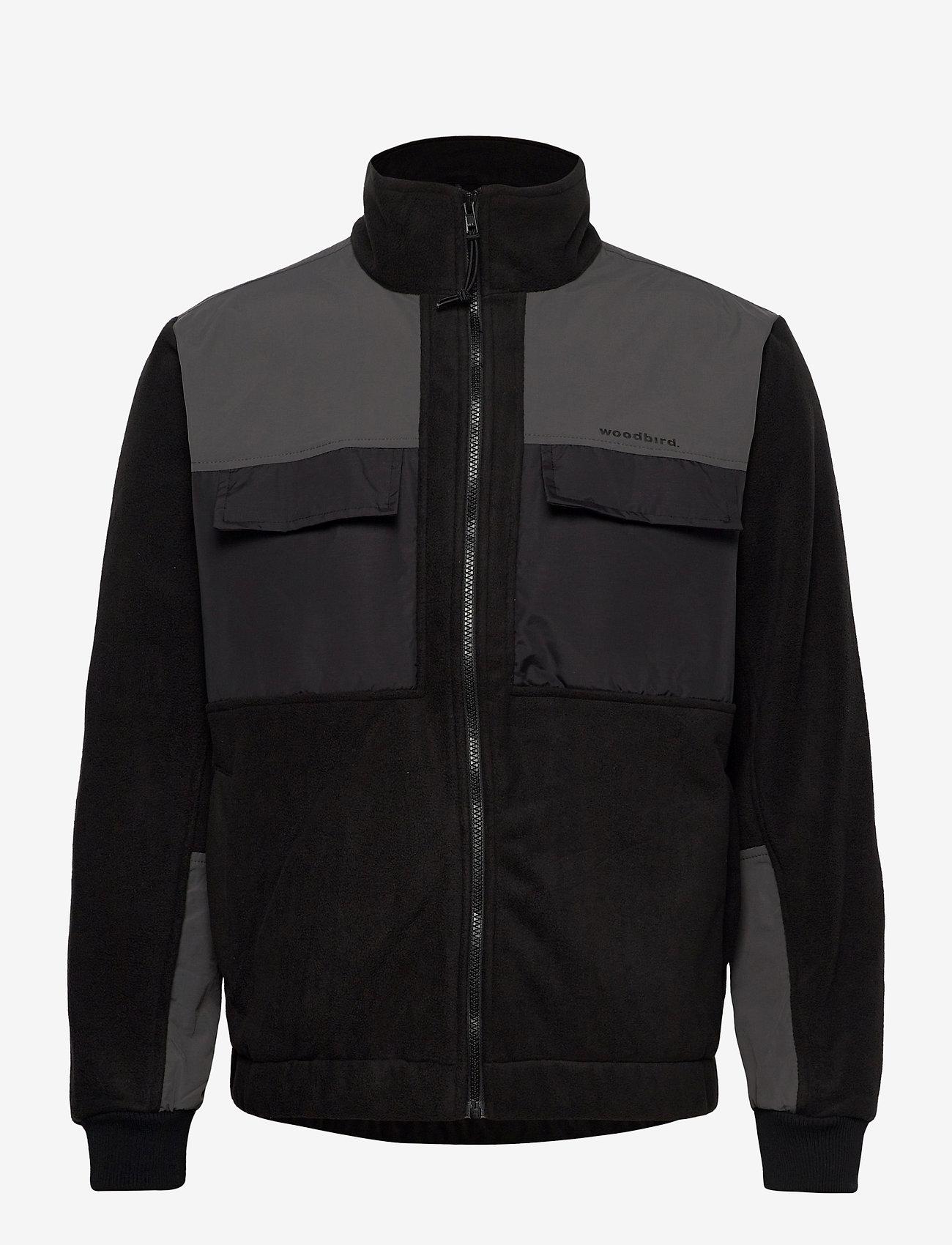 Woodbird - Strukt Zip Fleece - podstawowe bluzy - black - 1