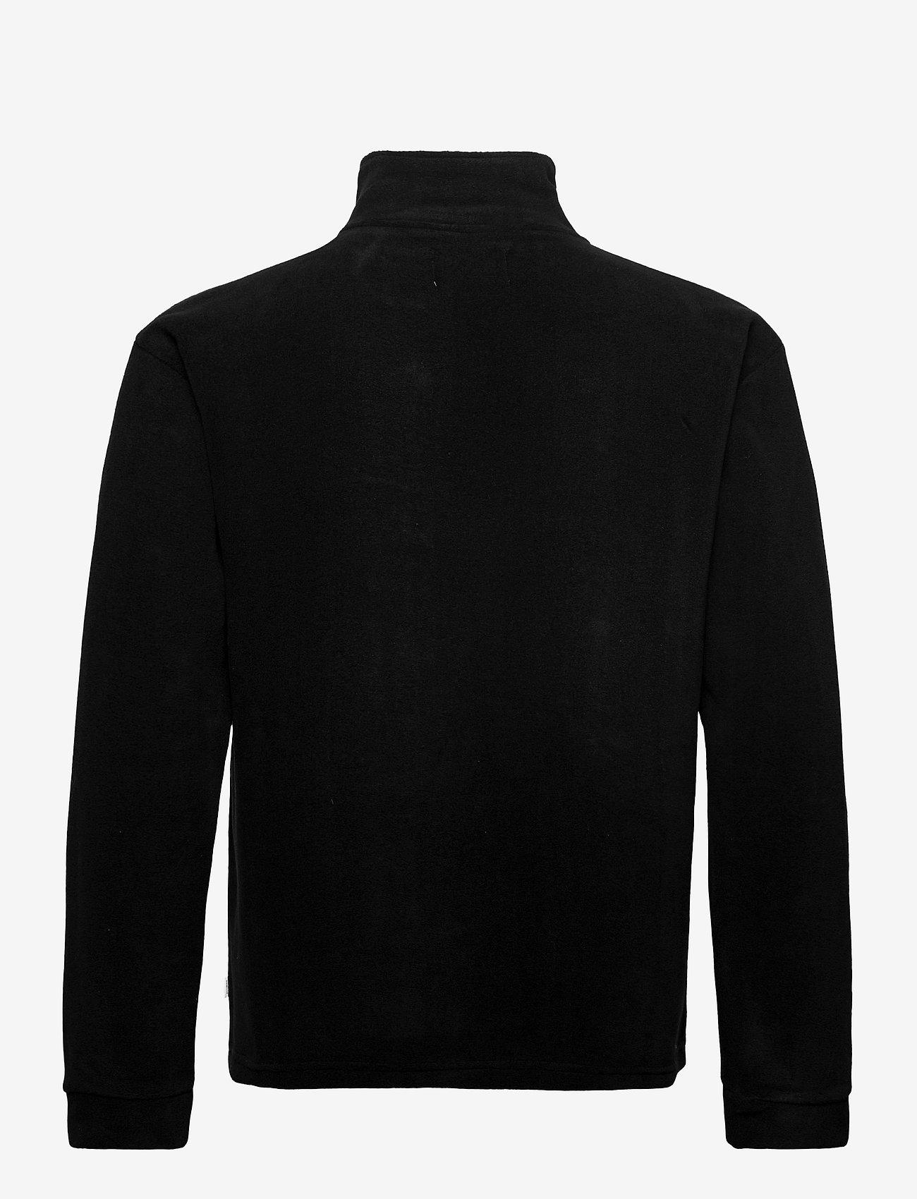 Woodbird - Frinck Fleece zip - basic-sweatshirts - black - 1