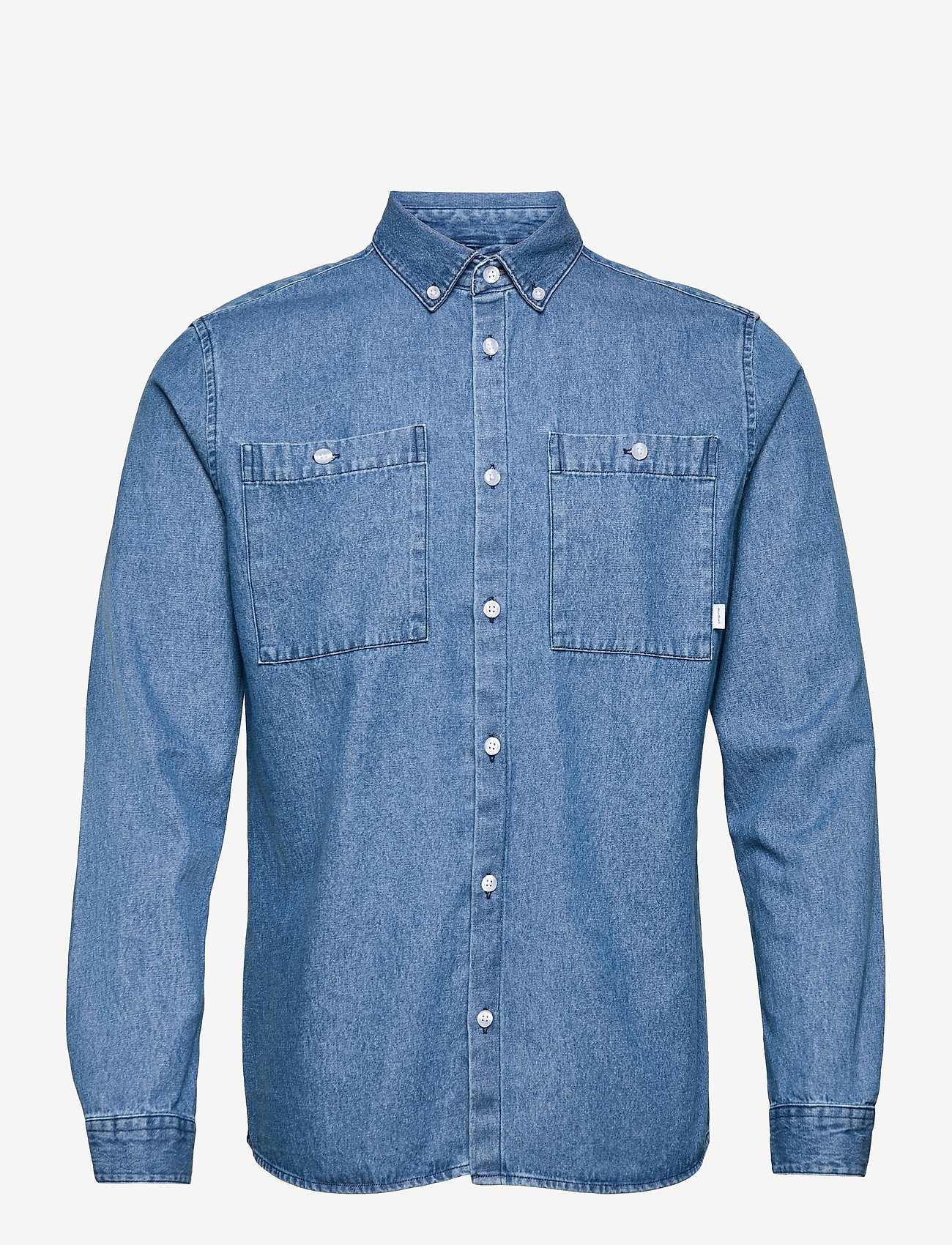 Woodbird - Pikan Denim Shirt - chemises à carreaux - blue - 1