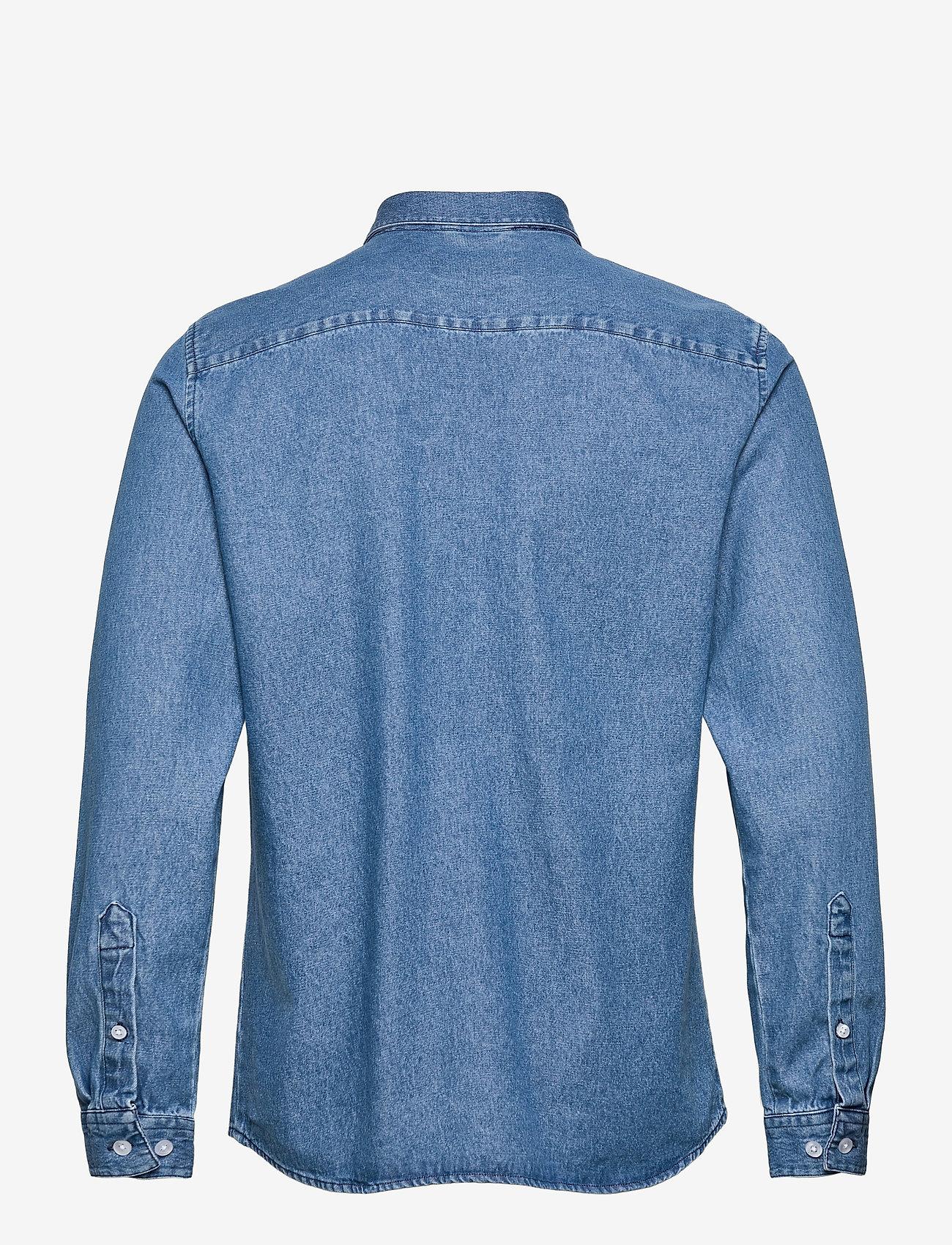 Woodbird - Pikan Denim Shirt - chemises à carreaux - blue - 2