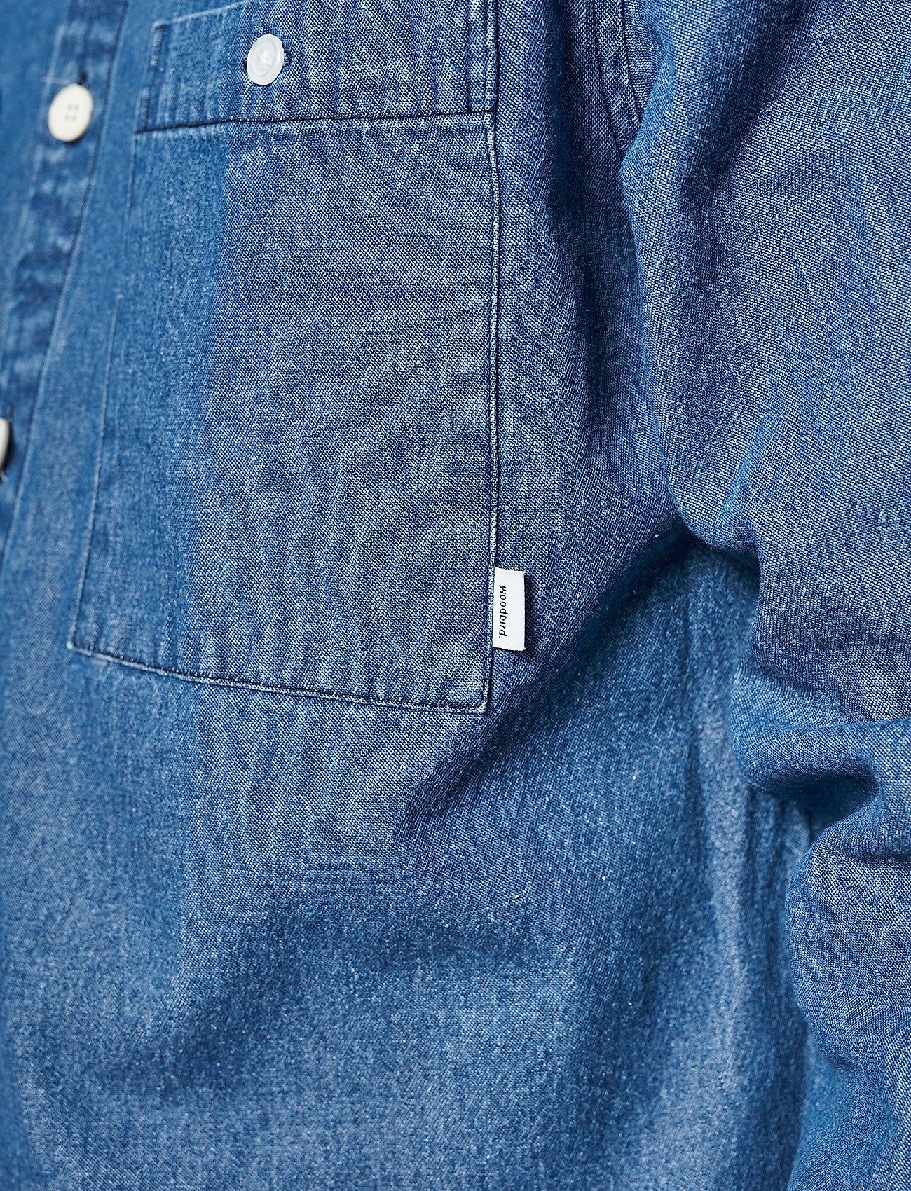 Woodbird - Pikan Denim Shirt - chemises à carreaux - blue - 3