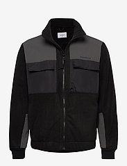 Woodbird - Strukt Zip Fleece - podstawowe bluzy - black - 0