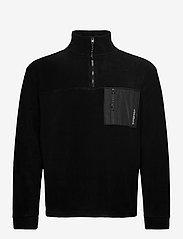 Woodbird - Frinck Fleece zip - basic-sweatshirts - black - 0