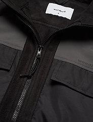 Woodbird - Strukt Zip Fleece - podstawowe bluzy - black - 3