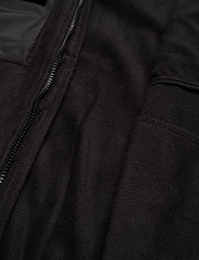 Woodbird - Strukt Zip Fleece - basic-sweatshirts - black - 5