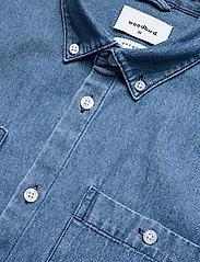 Woodbird - Pikan Denim Shirt - chemises à carreaux - blue - 4