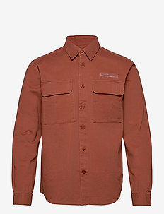 Hoxen Work Shirt - yläosat - clay brown
