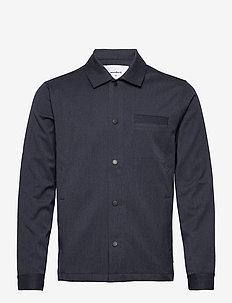 Brenti Mel. Shirt - oberteile - navy mel.