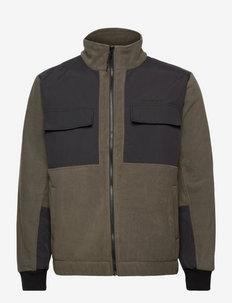 Strukt Zip Fleece - fleece - army green