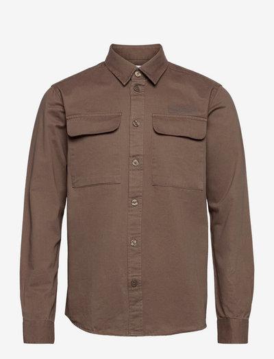 Hoxen Work Shirt - koszule casual - brown