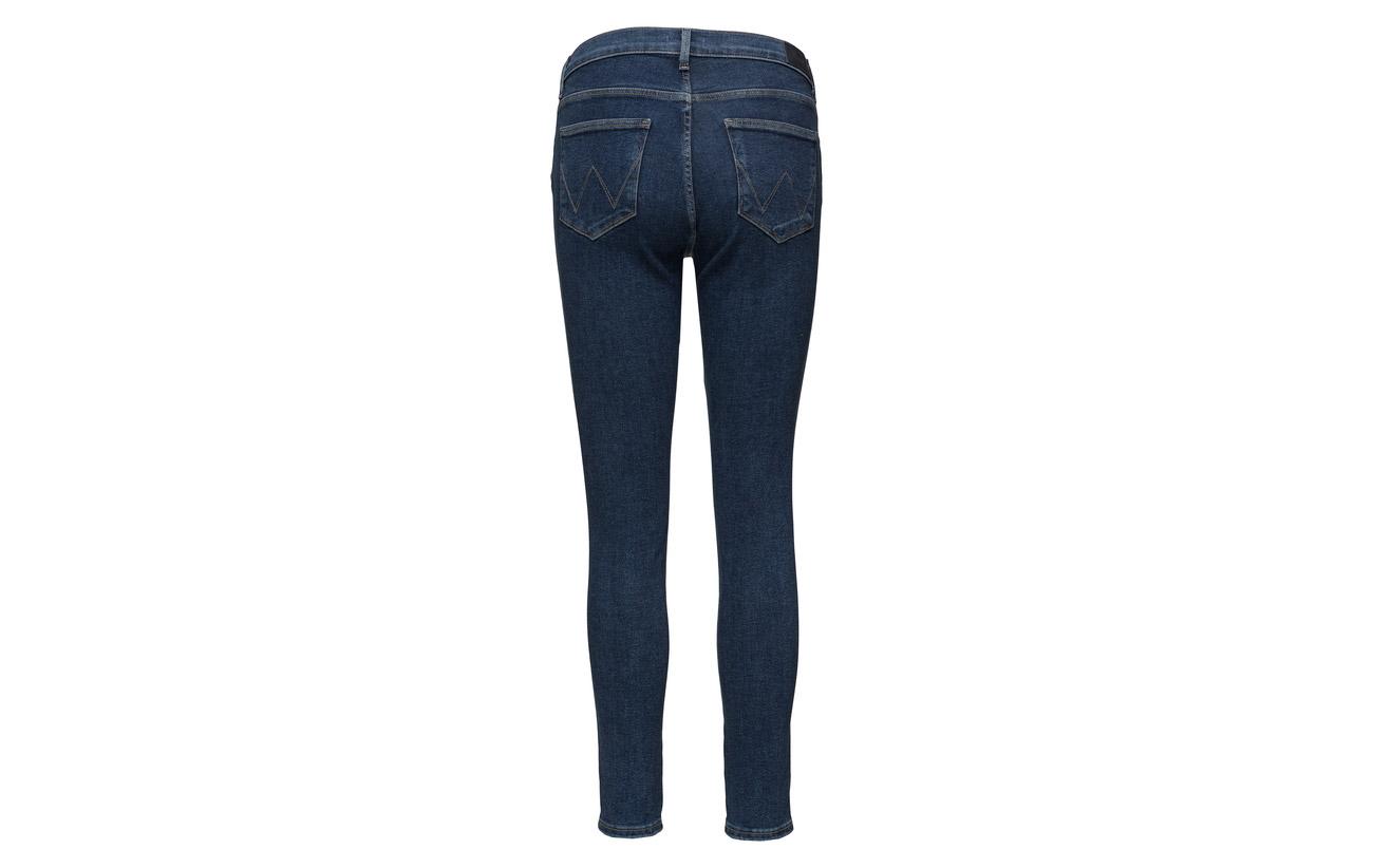 High Wrangler 2 Elastane Coton 93 Polyester Noise Rise Skinny Blue 5 TqH6Pdq